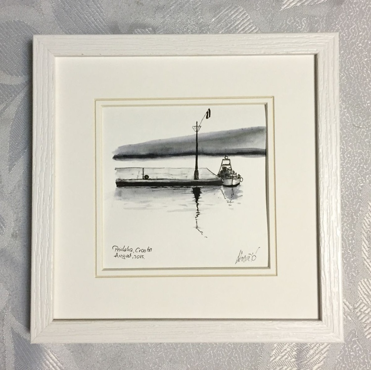 Framed - Small harbour - Image 0