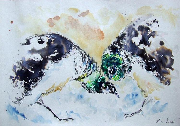 Picocks love / Watercolour painting - Image 0