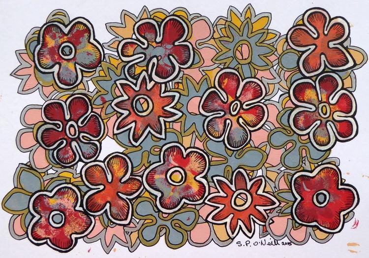 Floral Joy  (12ins x 10ins) - Image 0