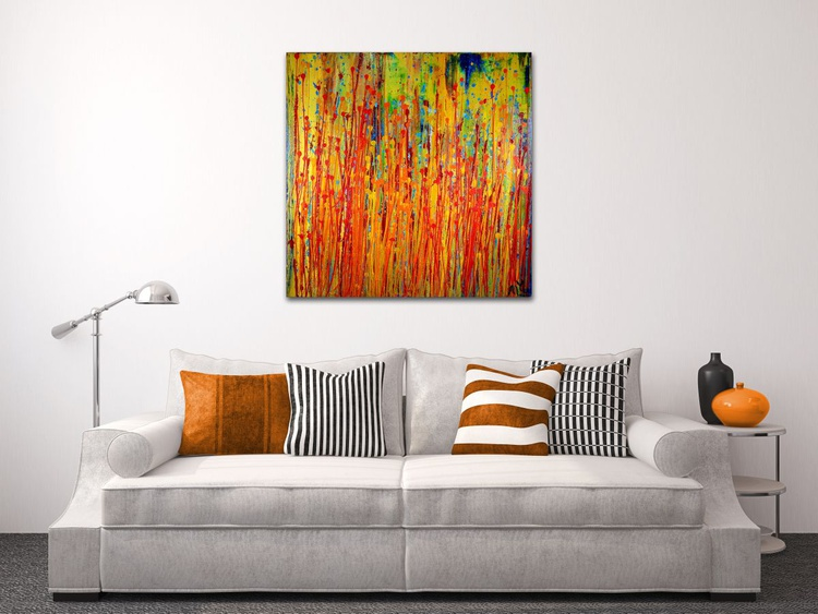 Abstract Fantasy- 24*24 inches deep edge canvas. - Image 0