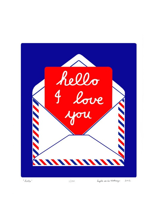 Hello - Unframed - FREE Worldwide Delivery - Image 0