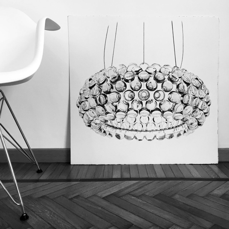 Caboche lamp - glass spheres - Image 0