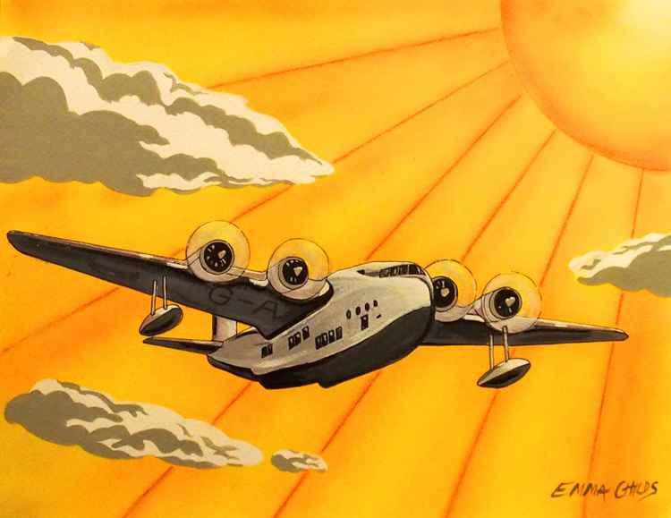 Art Deco Plane -