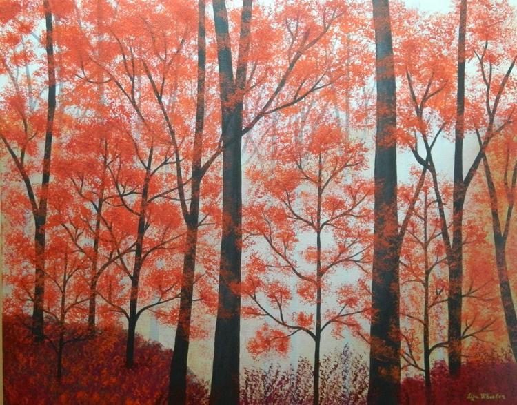 Memories of Summers Past - Original, unique landscape painting with texture - Image 0