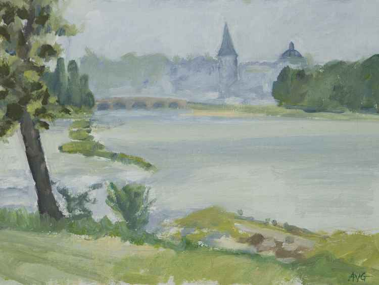 La Charité sur loire in the mist