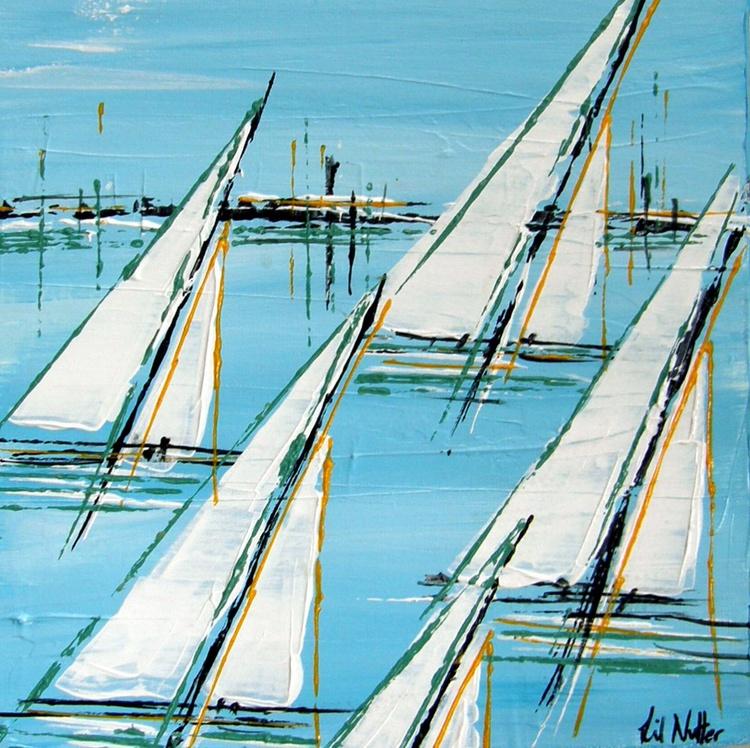 "Spring Sails (8""x8"") - Image 0"