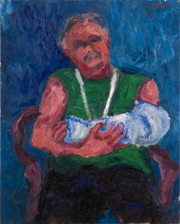 Man with broken hand - Image 0