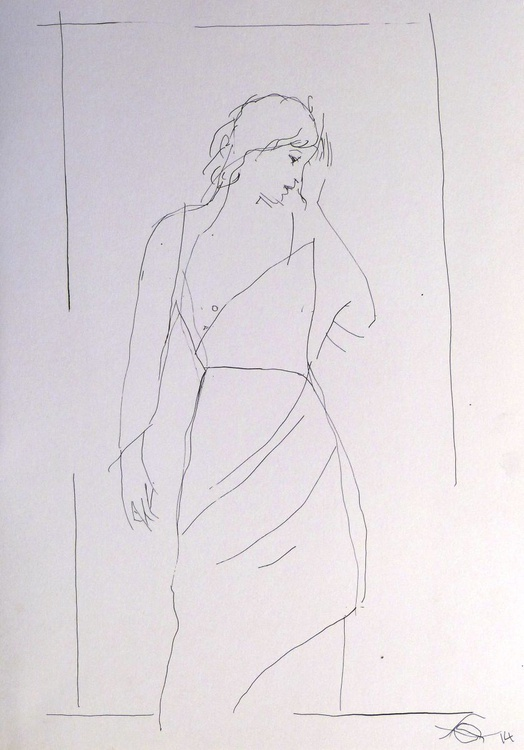 Pensive #3, 29x41 cm - Image 0