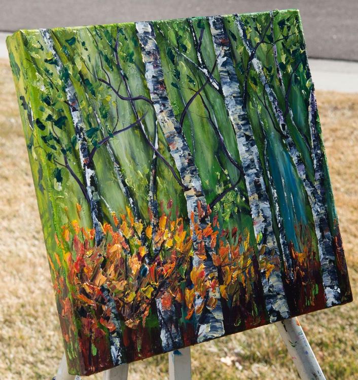 Spring Birches (Palette Knife) - Image 0