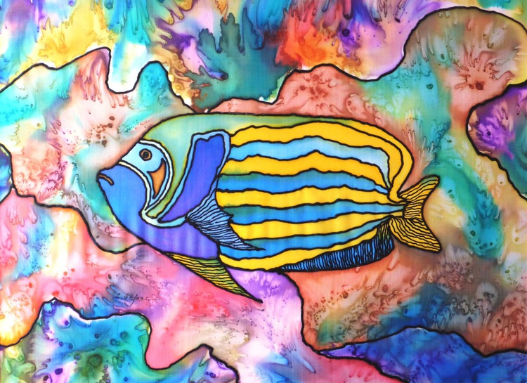Tropical Fish (Painting on Silk) - Image 0