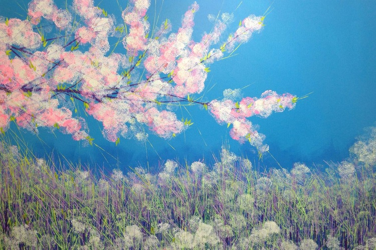 Cherry Blossom with Spring Flowers - Image 0