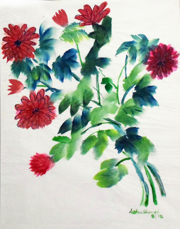 The red chrysanthemums - Image 0