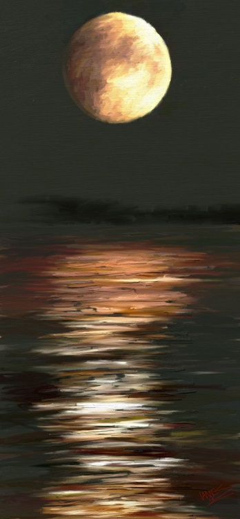 Moon over water - Image 0