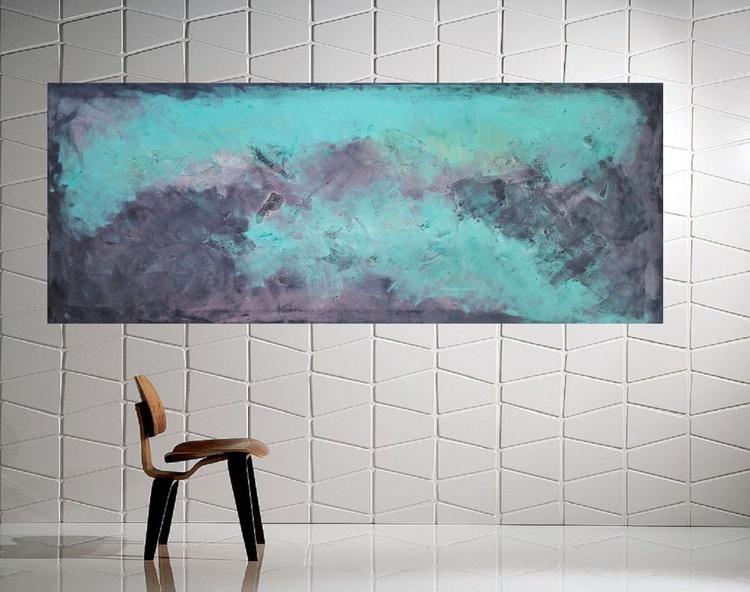 """59x 23,5""""( 150x60cm),  Mauritius 2  Landscape, hotel restaurant house design, canvas art - Image 0"""