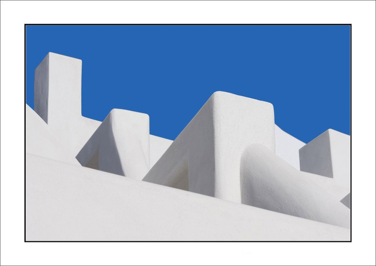 From the Greek Minimalism series: Greek Architectural Detail (Blue and White) # 13, Santorini, Greece - Image 0