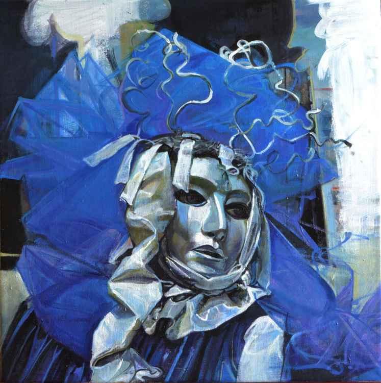 Venetian Carnival in blue.
