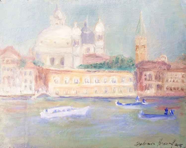 Misty Morning on the canal Grande Venice -