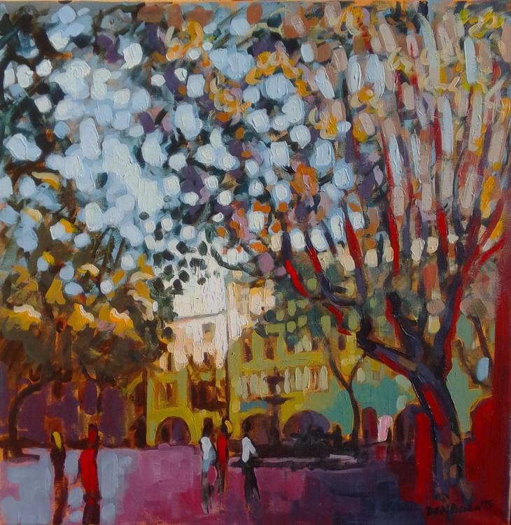 Uzes, Place aux Herbes, Autumn Light - Image 0
