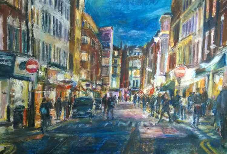 Old Compton Street Soho Dusk -
