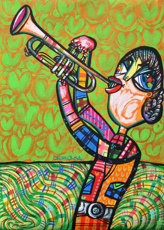 The Trumpeter - 29x42 -