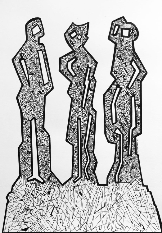 Abstracted Figures - Image 0