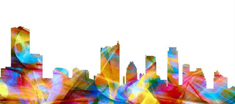 Austin, Texas Skyline - Vibrance -