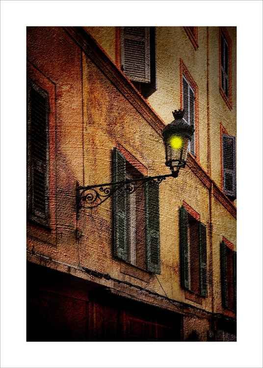 Street Lamp and Buildings