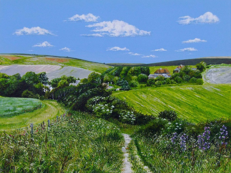 Summer over Telscombe (Sussex) - Image 0