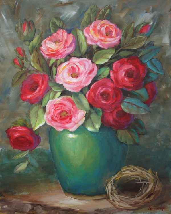 Roses with Bird Nest