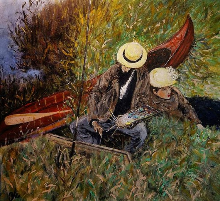 ''Paul Cesar Helleu sketching with his wife''/Ready to hang - Image 0