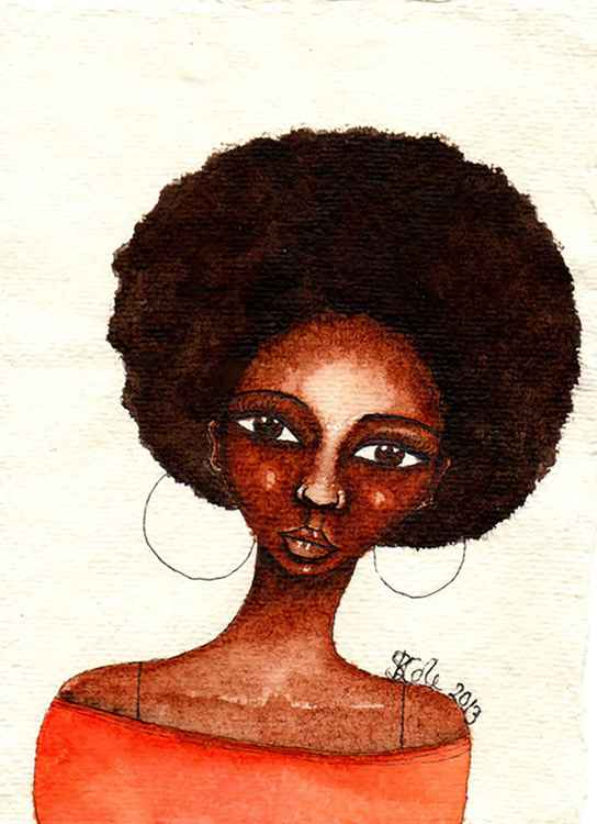 'She Knew' Original African American Watercolour Painting