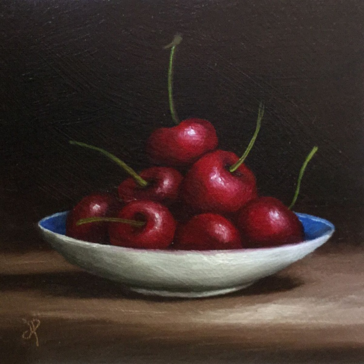 Cherries on a plate - Image 0