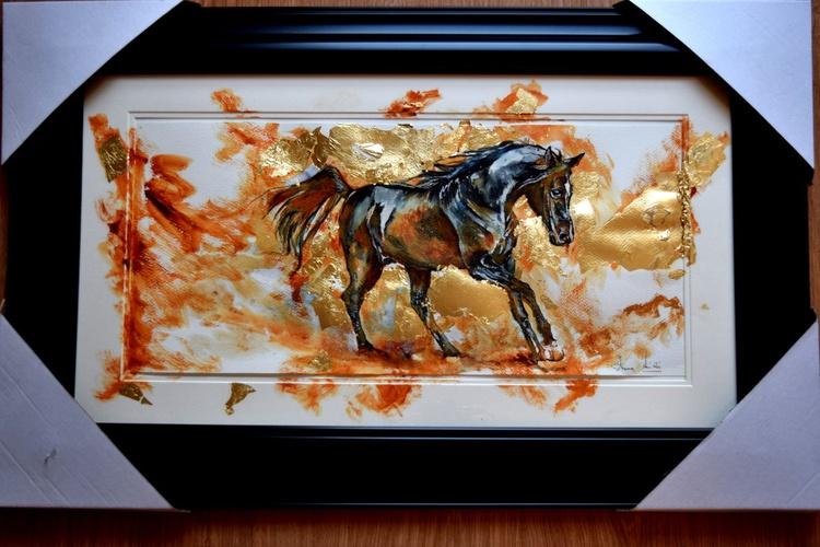 Sunny / Framed Horse Equine Art  Modern Contemporary - Image 0