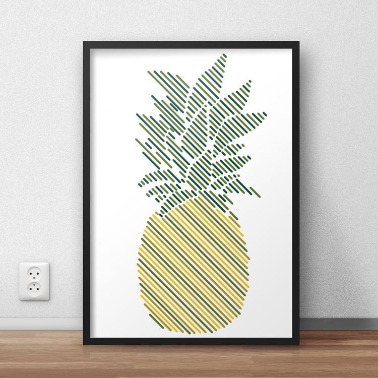 Stripe Pineapple Print - Image 0