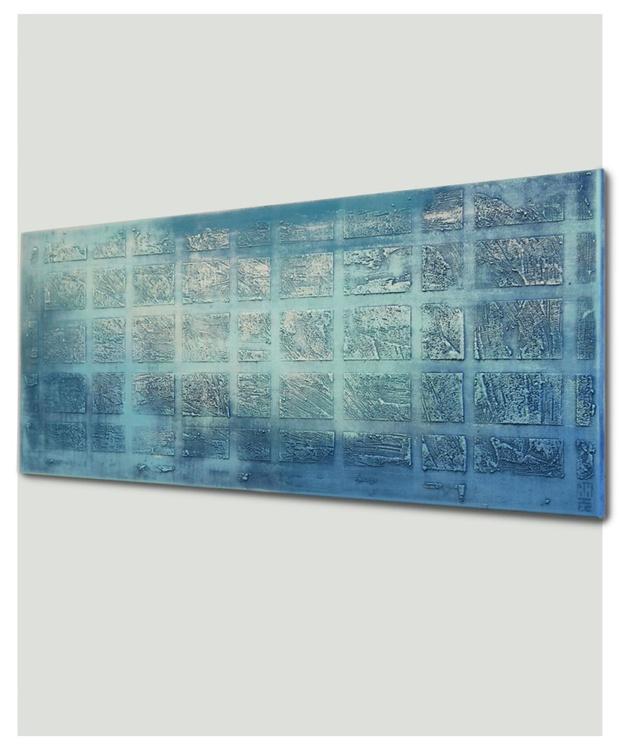 Abstract Painting - Oceanic Blocks - B18 - Image 0