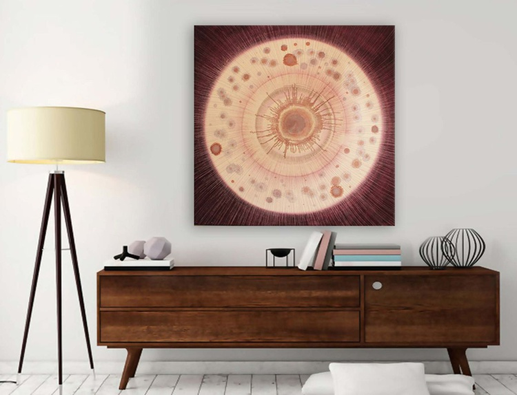 DAMSON Abstract Acrylic Painting - Image 0