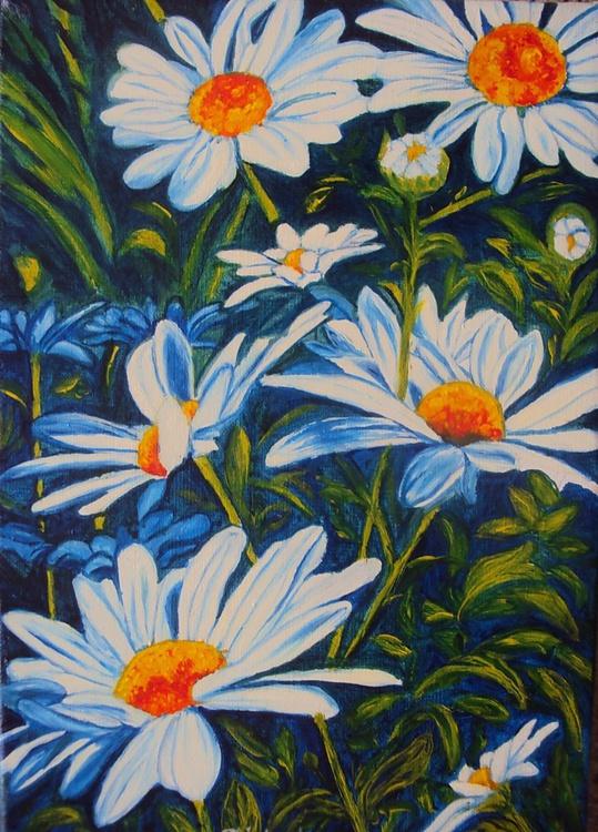 Daisy Original Oil Painting Realism Flowers Art - Image 0