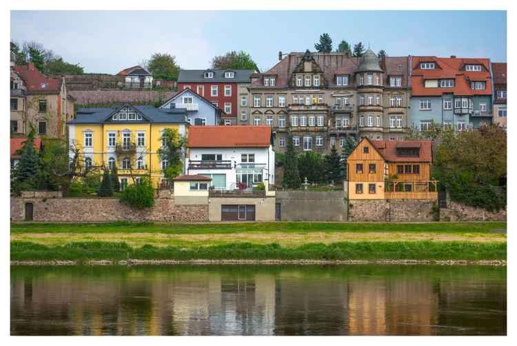 Elbe River Town