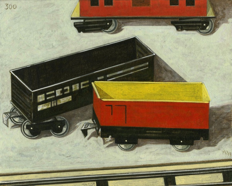Day 300, still life with toy trains - Image 0