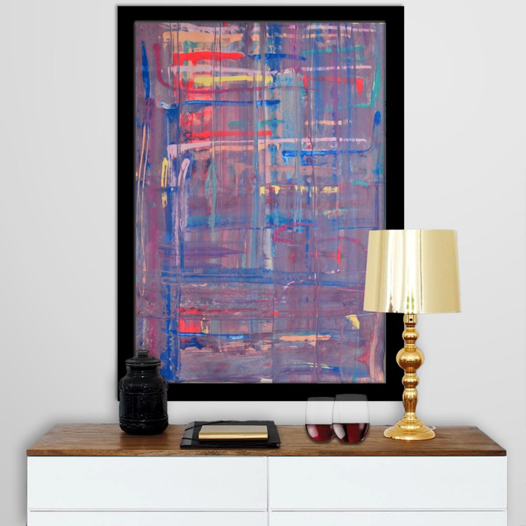 Abstract Home Decor 097 - Acrylic Abstract Art Painting On A1 Big Size Paper - Image 0