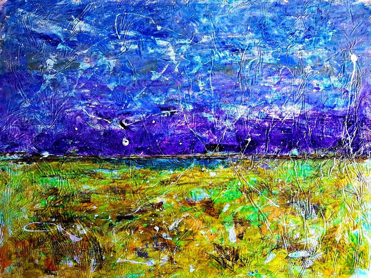 Senza Titolo 197 - abstract landscape - 112 x 85 x 2,50 cm - ready to hang - acrylic painting on stretched canvas - Image 0