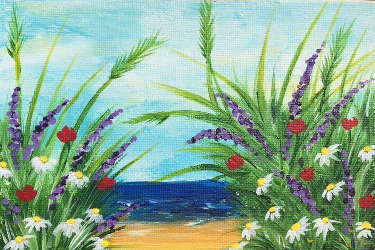 Mini Study - Meadow By The Sea - Image 0