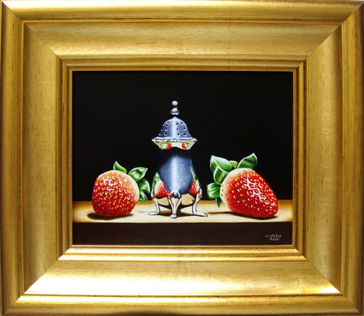 2 strawberries in silver - Image 0