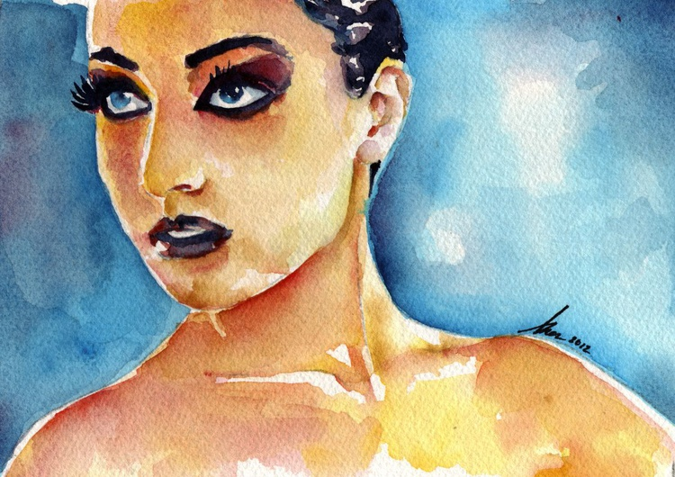 Getting Ready for the Ballet - Watercolor by Artist Brenden Sanborn - Image 0