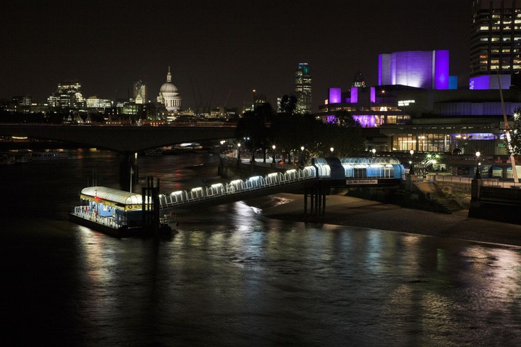 Southbank at night, London - Image 0