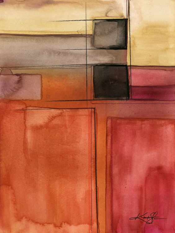 Sacred Balance 4 - Abstract Watercolor Painting - Image 0