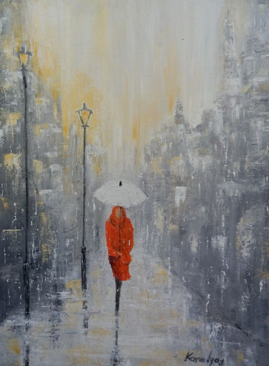 The woman in red - Image 0