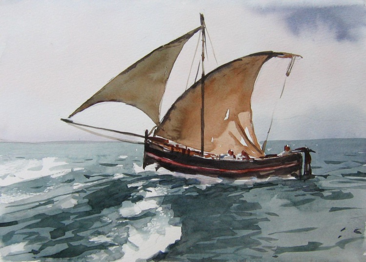 stormy  sea sailing... - Image 0