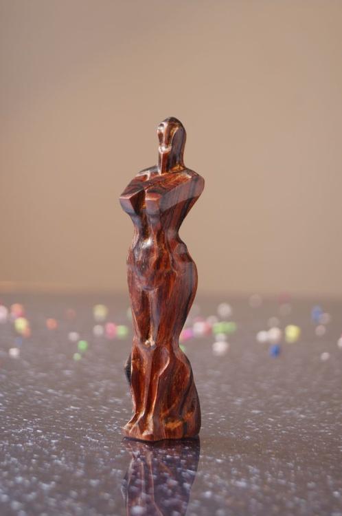wood art carving sculpture , goddess , wood art for home decoration , wood art in houseware - Image 0