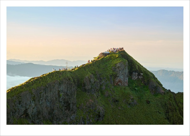 Hikers on Mount Batur, Bali. - Image 0